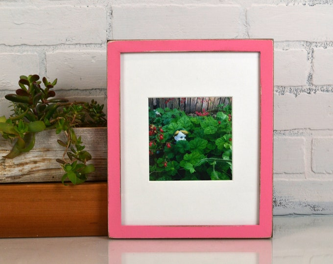 8x10 Picture Frame in Peewee Style with Vintage Robin's Egg Finish - IN STOCK - Same Day Shipping - 8x10 Photo Frame Solid Hardwood