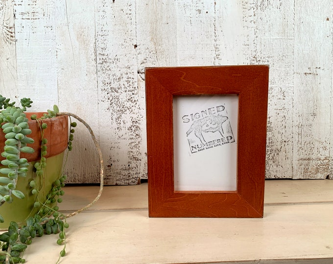 """4x6 Picture Frame in 1.5"""" Standard Style with Vintage Wood Tone Finish - IN STOCK - Same Day Shipping - 4 x 6 Photo Frame Rustic Brown"""