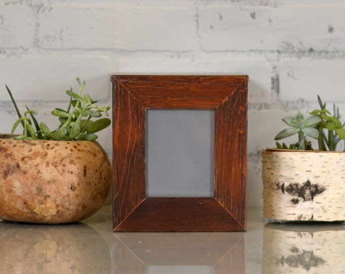 "3.5x4.5"" ACEO or Wallet Size Picture Frame in 1.5"" Reclaimed Cedar and in Finish Color of YOUR CHOICE - Wallet Photo Frame"