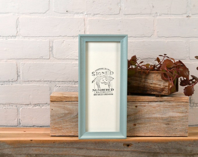 """4x10"""" Picture Frame in Foxy Cove Style with Solid Homestead Finish - IN STOCK  Same Day Shipping - 4 x 10 inch Panoramic Photo Frame Green"""