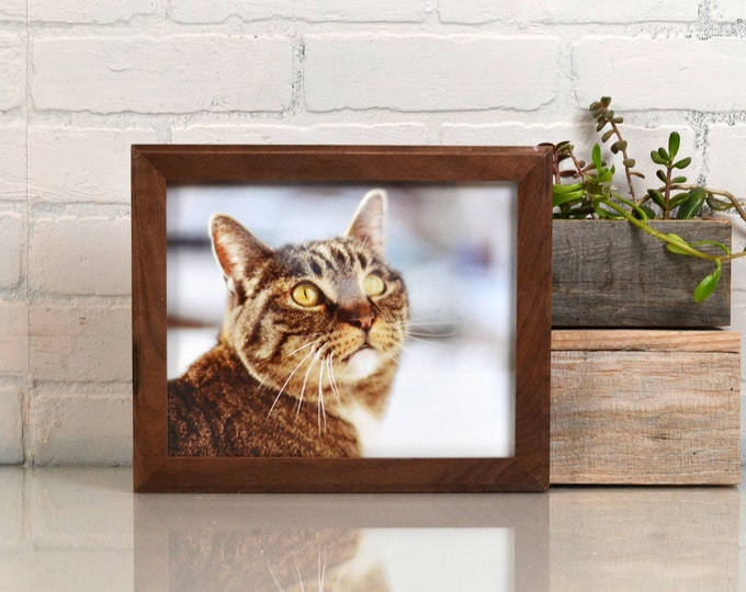 8x10 Picture Frame in 1x1 Outside Cove Style with Natural Walnut Finish - IN STOCK - Same Day Shipping - 8x10 Photo Frame Solid Hardwood