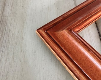 Vintage Color of Your Choice in Mulder Style - Choose your frame size: 3x3 up to 11x14 / 12.5x12.5 inches - Diploma Frame Solid Wood