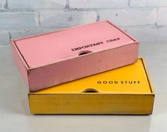 Keepsake Box - Choose Personalized or Not - Handmade Solid Wood Desktop Box with Rough-Sawn Finish gift, storage, organizer