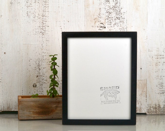 8.5 x 11 Picture Frame in Peewee Style with Vintage Black Finish - IN STOCK Same Day Shipping - 8.5x11 Modern Picture Frame Gallery Black