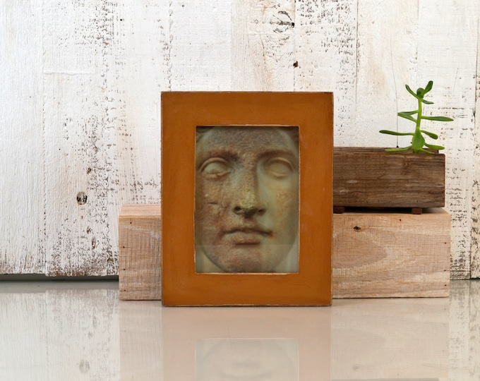 """5x7"""" Picture Frame in 1.5 Standard Style with Vintage Roman Gold Finish - IN STOCK - Same Day Shipping - 5 x 7 Photo Frame Rustic Colorful"""
