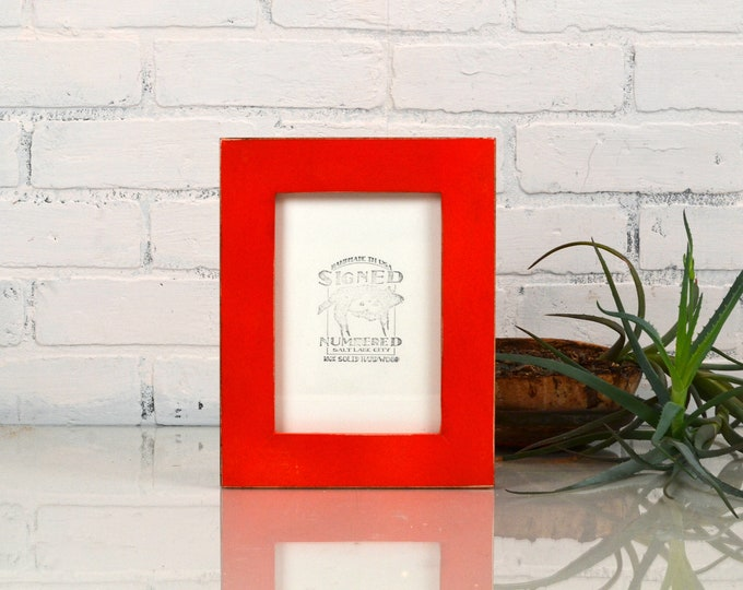"5x7"" Picture Frame in 1.5 Standard Style with Vintage Red Finish - IN STOCK - Same Day Shipping - 5 x 7 Photo Frame"