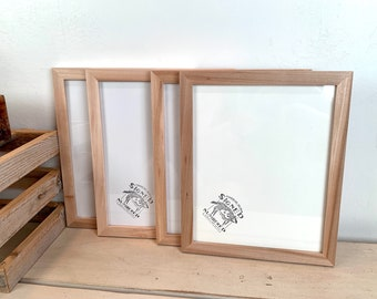 8x10 Picture Frame - SHIPS TODAY - Natural WILLOW Wood in Peewee Style - In Stock - Same Day Shipping - 8x10 Photo Frame Solid Hardwood