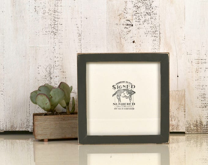 8x8 Square Picture Frame in 1x1 Flat Style with Vintage Sable Gray Finish - In Stock Same Day Shipping - 8 x 8 Photo Frame Rustic