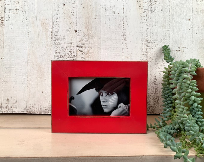 """4x6 Picture Frame in 1.5"""" Standard Style with Vintage Ruby Red Finish - IN STOCK - Same Day Shipping - SALE 4 x 6 Photo Frame Rustic Red"""