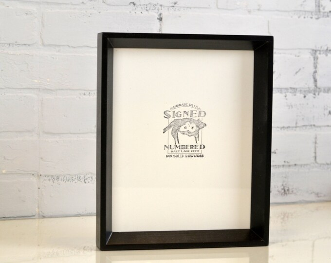 8x10 Picture Frame with Solid Black Finish in Park Slope Style - IN STOCK - Same Day Shipping - 8 x 10 Photo Frame