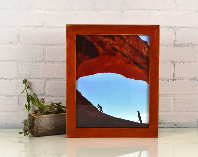 """Handmade 11x14"""" Picture Frame in 1.5x1.25"""" Chunky style with Vintage Wood Tone Finish - In Stock - Same Day Shipping"""