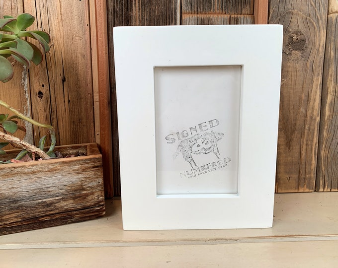 """4x6 Picture Frame in 1.5"""" Standard Style with Solid White Finish - IN STOCK - Same Day Shipping - SALE 4 x 6 Photo Frame Modern White"""