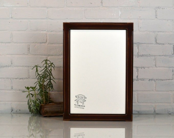 "12x18"" Picture Frame in Wide Bones Style with Super Vintage Mahogany Finish - IN STOCK - Same Day Shipping - 12 x 18 Photo Frame"