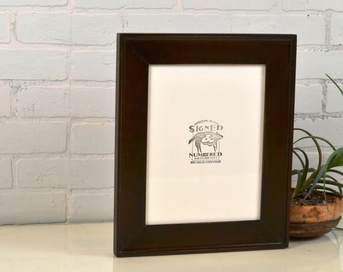 """8.5 x 11"""" Picture Frame in Oslo Slope Style with Solid Dark Wood Tone Finish - IN STOCK - Same Day Shipping - 8.5x11 inch Frame"""
