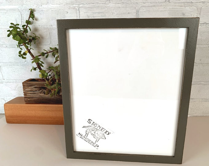 10x12 Picture Frame in Peewee style with Vintage Sable Gray Finish - IN STOCK - Same Day Shipping 10 x 12 inch Wood Frame Rustic