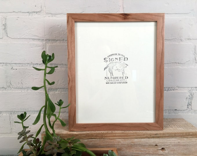 8x12 Picture Frame in Peewee Style with Natural Cherry Finish - IN STOCK Same Day Shipping - Handmade Classic 8 x 12 Frame Solid Hardwood