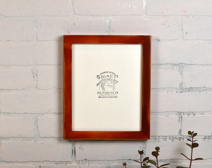 8x10 Picture Frame in 1x1 Flat Style with Super Vintage Wood Tone Finish - IN STOCK - Same Day Shipping - Rustic Wood 8 x 10 Brown Frame