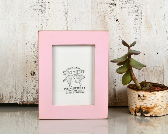 "5x7"" Picture Frame in 1.5 Standard Style with Vintage Baby Pink Finish - IN STOCK - Same Day Shipping - 5 x 7 Photo Frame"