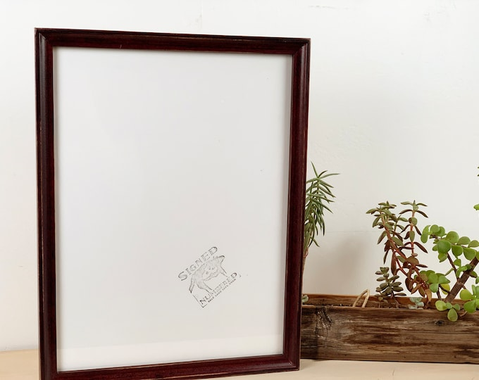 12x16 Picture Frame in Foxy Cove Style with Vintage Mahogany Finish 12 x 16 Frame - includes plexiglass - IN STOCK - Same Day Shipping