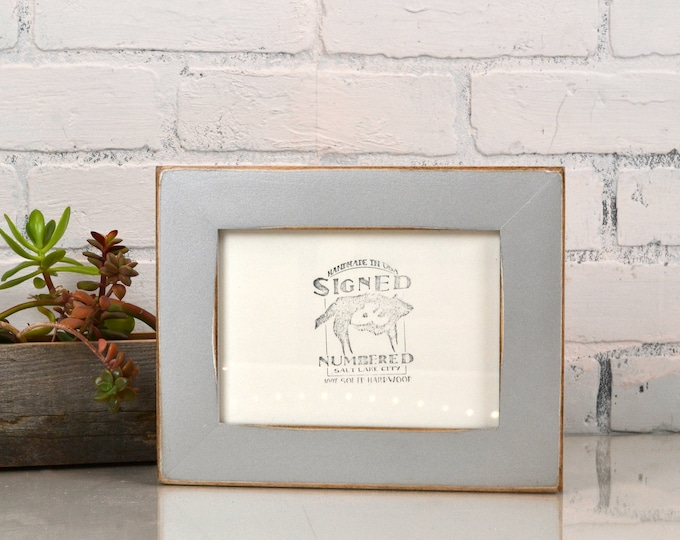 "5x7"" Picture Frame in 1.5 Standard Style with Vintage Silver Finish - IN STOCK - Same Day Shipping - 5 x 7 Photo Frame Metallic"