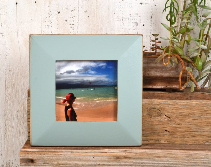 "5x5"" Square Picture Frame in 2"" Wide Easy Street Style with Vintage Homestead Green Finish - IN STOCK - Same Day Shipping - 5 x 5 Frame"