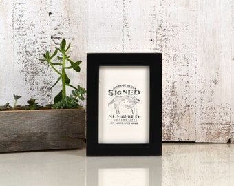 4x6 Picture Frame in 1x1 Flat Style with Vintage Black Finish - IN STOCK - Same Day Shipping - 4 x 6 Photo Frame Black