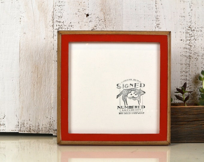 "8x8"" Square Picture Frame in 1x1 2-Tone Style and Vintage Finish Color OF YOUR CHOICE - 8x8 Photo Frame - Handmade 8x8 Picture Frame"