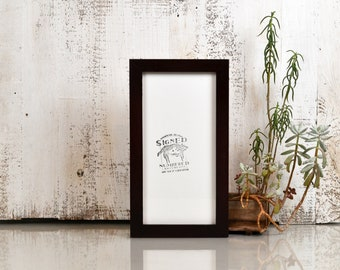 """6x12"""" Panoramic Picture Frame 1x1 Flat Style with Solid Mahogany Finish - IN STOCK - Same Day Shipping - Modern 6 x 12 inch Picture Frames"""