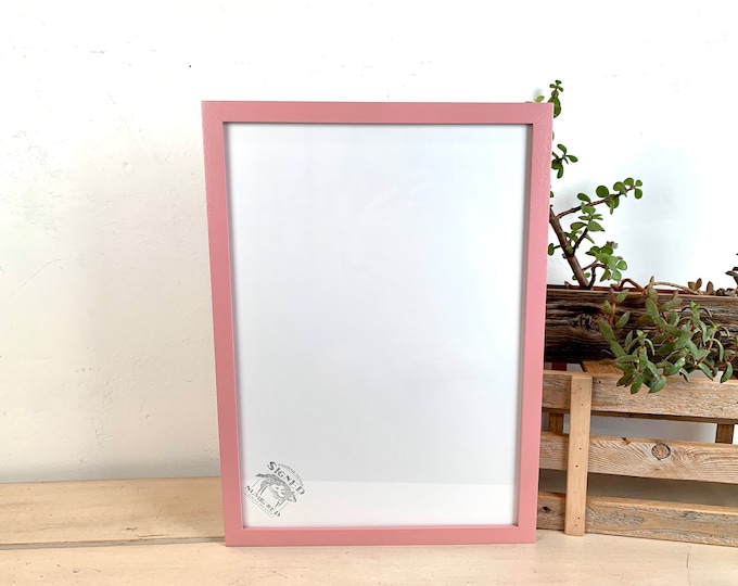 A3 Size Picture Frame - SHIPS TODAY - Peewee Style with Solid Rose Pink Finish - In Stock - 297 x 420 mm - 11.7 x 16.5 inches