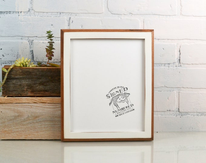8x10 Picture Frame with Vintage White Finish in 1x1 2-Tone Style - IN STOCK - Same Day Shipping - 8 x 10 White Rustic Photo Frame