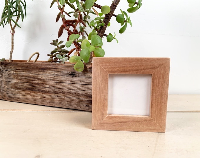 2x2 inch Square Photo Picture Frame Solid Natural Willow in PeeWee style - 2 x 2 Photo Frame - In Stock - SAME DAY SHIPPING