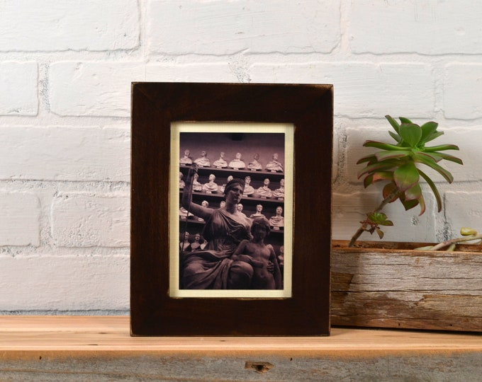 "5x7"" Picture Frame in 1.5 Standard Style with Vintage Dark Wood Tone Finish - IN STOCK - Same Day Shipping - 5 x 7 Photo Frame"