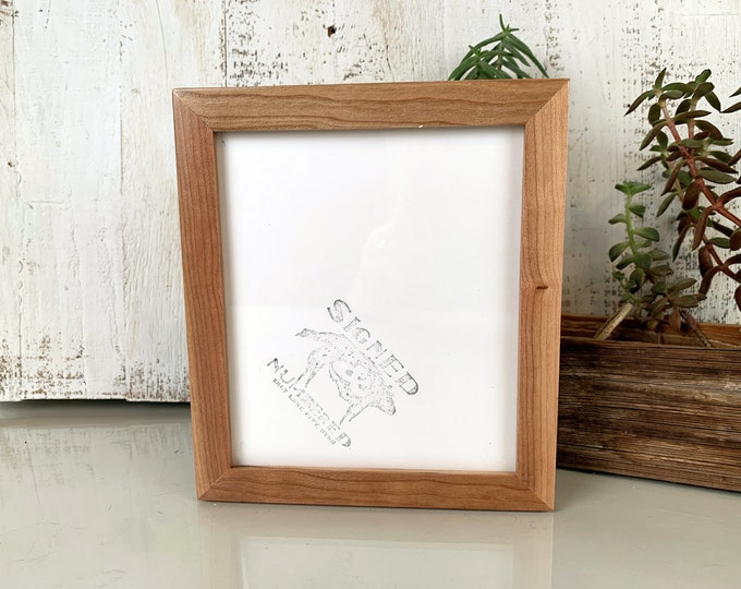 """6x7"""" Picture Frame in PeeWee Style in Solid Cherry with Natural Finish - IN STOCK - Same Day Shipping - Gallery Frame 6 x 7 Hardwood"""