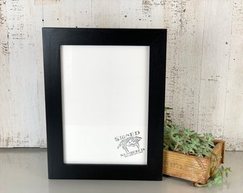 """A4 Size Picture Frame in 1.5 Standard Style with Solid Black Finish - IN STOCK Same Day Shipping - Frame 210 x 297 mm - 8.3 x 11.7"""""""