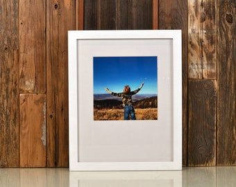 9x12 Picture Frame in Peewee Style with Solid White Finish - IN STOCK Same Day Shipping - Handmade Frame 9 x 12 inch size