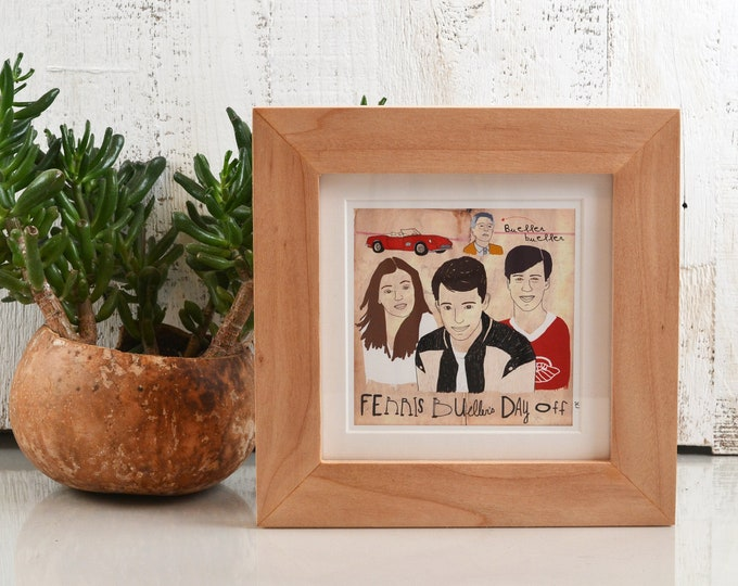 """7x7"""" Square Picture Frame in 1.5"""" Natural Willow with Smooth Finish - IN STOCK - Same Day Shipping - 7x7 Photo Frame Willow Wood"""
