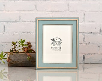 7x9 Picture Frame in Wedge Style with Vintage Homestead and Natural Finish - IN STOCK - Same Day Shipping - Handmade 7 x 9 inch Frame