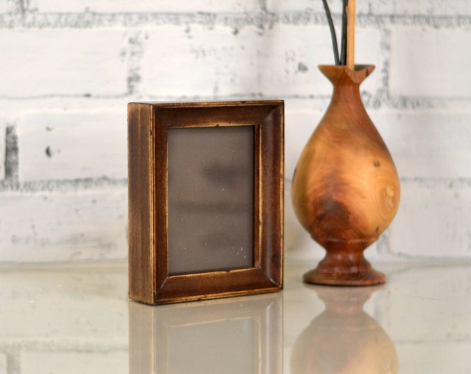 3.5x4.5 inch ACEO or Wallet Size Picture Frame in Foxy Cove Style and in Color of YOUR CHOICE - 2.5 x 3.5 Wallet Photo Frame