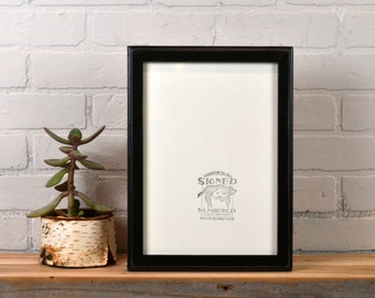 A4 Size Picture Frame in 1x1 Outside Cove Style with Vintage Black Finish - IN STOCK Same Day Shipping - Frame 210 x 297 mm - 8.3 x 11.7""
