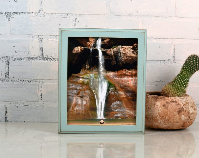 8x10 Picture Frame in Outside Cove Style with Vintage Homestead Green Finish - IN STOCK - Same Day Shipping - Rustic Solid Wood Frame 8 x 10