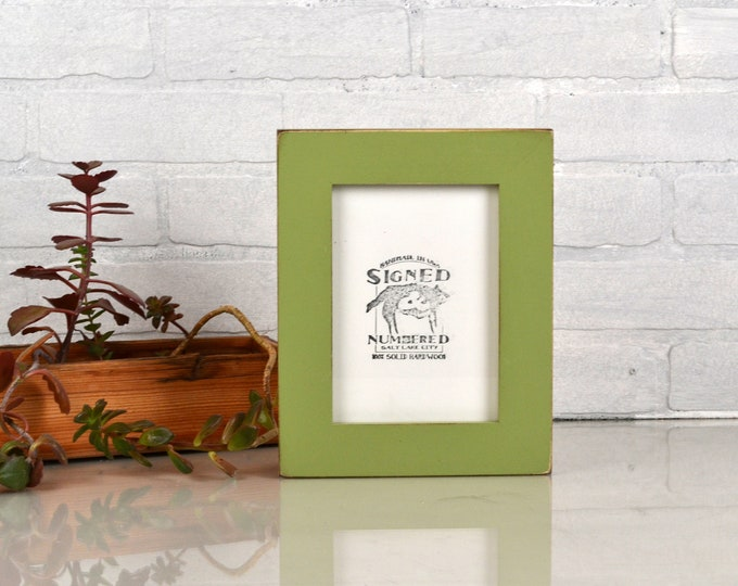 """5x7"""" Picture Frame in 1.5 Standard Style with Vintage Guacamole Green Finish - IN STOCK - Same Day Shipping - 5 x 7 Photo Frame"""