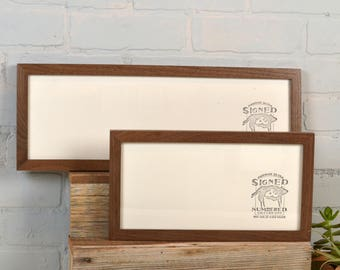 Panoramic Picture Frame in 1x1 Flat Style and Solid Natural Wood Tone Color of Your Choice - Select Your Size: 2x6, 5x15 + more