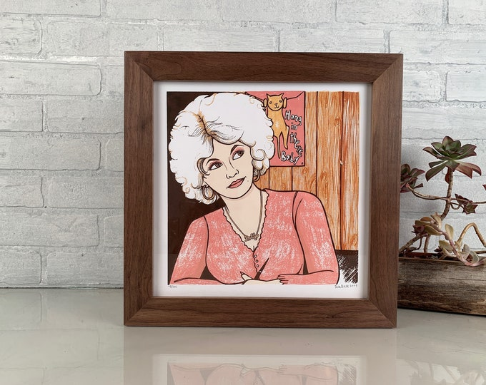 "12x12"" Square Picture Frame in 1.5 Standard Style in Solid Natural Walnut - IN STOCK Same Day Shipping - 12 x 12 Solid Hardwood Frame"