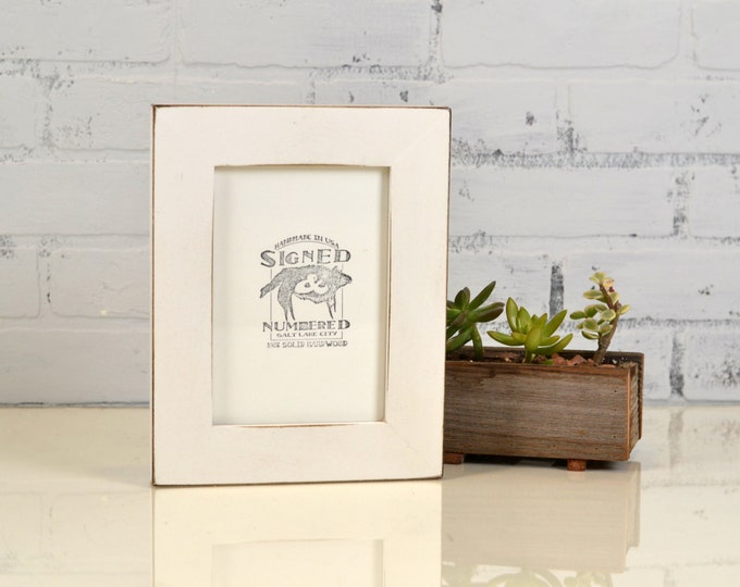 "5x7"" Picture Frame in 1.5 Standard Style with Vintage White Finish - IN STOCK - Same Day Shipping - 5 x 7 Photo Frame"