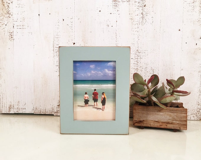 "5x7"" Picture Frame in 1.5 Standard Style with Vintage Homestead Green Finish - IN STOCK - Same Day Shipping - 5 x 7 Photo Frame"