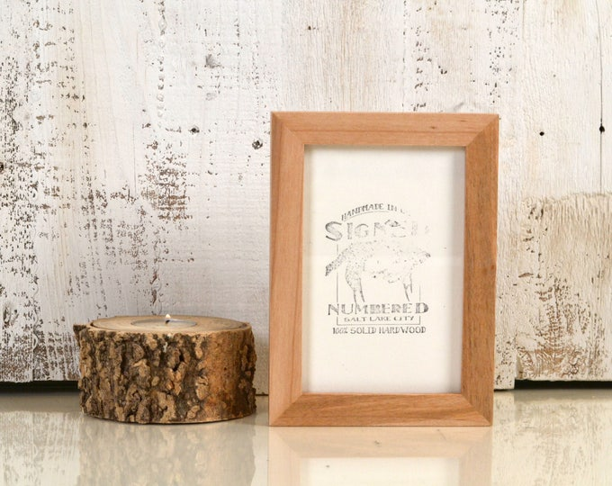 """4x6"""" Picture Frame in Peewee Style on Natural Willow Wood - Same Day Shipping - IN STOCK - Gallery Frame 4 x 6 inches Solid Wood"""