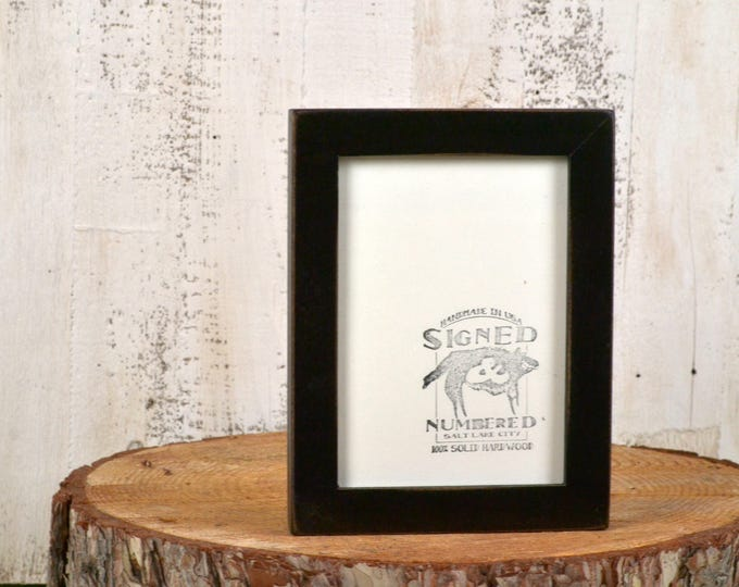 5x7 inch Picture Frame in 1x1 Flat Style with Vintage Black Finish - IN STOCK - Same Day Shipping - 5 x 7