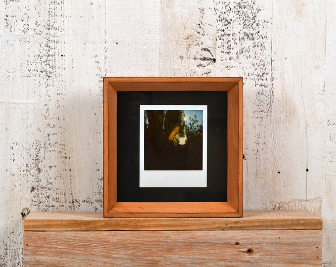"6x6"" Square Picture Frame in Park Slope Style with Burnished Natural Alder Finish - IN STOCK - Same Day Shipping - 6 x 6 Frame Solid Wood"
