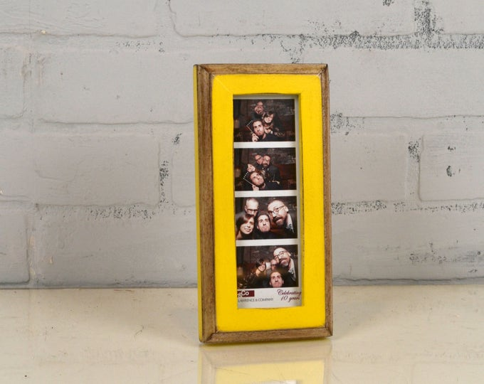 """Photo Booth Frame 2 x 6 for Picture Strip in 1x1 2-Tone Style in COLOR of YOUR CHOICE - 2x6"""" Wedding Photo Booth Frame - Wedding Favor"""