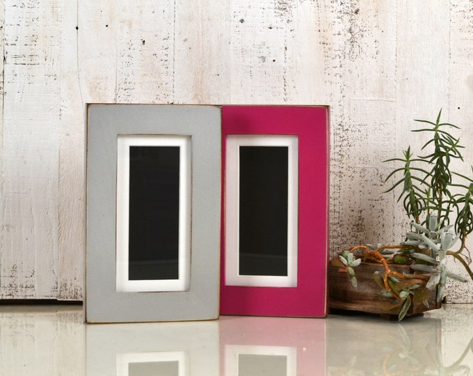 "4x8"" Picture Frame for 2x6"" Photo Booth Strip in 1.5-inch Standard Style and in Finish COLOR of YOUR CHOICE - 2x6 Photo Booth Frame"